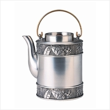 MSP35261 - Pewter Tea Pot, Orchid Motif