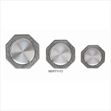 MSP71113 - Pewter Coaster - Laurel Motif