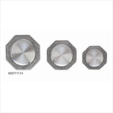 MSP71114 - Pewter Coaster - Laurel Motif