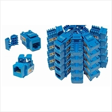 [From USA]iMBAPrice (Pack of 25) Keystone Punch Down Jack Cat-5e RJ-45 - Blue