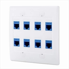 [From USA]Sancable - Ethernet Wall Plate 8 Port Cat6 Keystone Female to Female