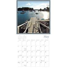 [USA Shipping]By the Sea - The Boats and Harbors of New England 2020 Wall Cale