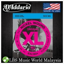 D 'Addario EXL120+ Nickel Wound Electric Guitar String EXL120 Light Plu