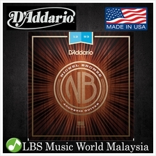 D 'Addario NB1253 Nickel Bronze Acoustic Guitar String Light Daddario D