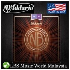 D 'Addario NB1152 Nickel Bronze Acoustic Guitar String Custom Light Dad