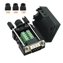[From USA]Connector DB9 RS232 D-SUB Male Serial Adapter 9-pin Port Adapter to