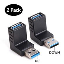 [From USA]USB 3.0 Adapter 90 Degree Male to Female Combo Vertical Up and Down