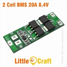 HX-2S BMS 2 Cell 8.4V 20A Li-ION Battery Charge/ Discharge Protection