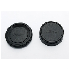 Camera Body Cap and Rear Lens Cover for Nikon D-SLR