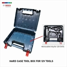 BOSCH TOOL BOX / CARRYING CASE FOR 12V CORDLESS TOOLS -REMOVABLE INLAY