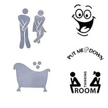 [From USA]CUGBO 5Pieces DIY Removable Toilet Seat Cover Bathroom Washroom WC S