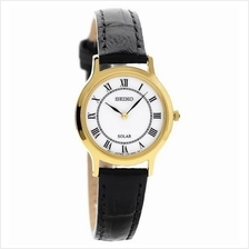 SEIKO Solar White Dial Leather SUP304 SUP304P1 Women Lady Watch