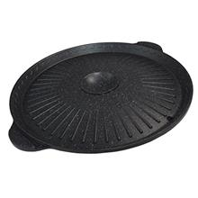 [USA Shipping]Korean Tabletop Center Raised Round Samgyupsal Grill Pan for BBQ