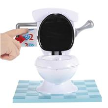 Spray Water Toilet with Flush Sound Effects Tricky Sprinkler Game for Child an