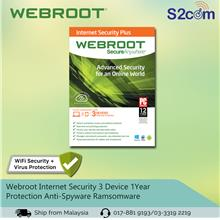 Webroot Internet Security 3 Device 1Year Protection