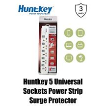 Huntkey 5 Universal Sockets Power Strip Surge Protector (PZC-504)
