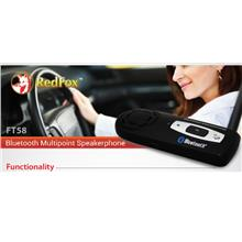 REDFOX BLUETOOTH HAND FREE WIRELESS SPEAKER PHONE CAR KIT (FT58) BLK