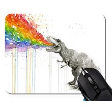 [From USA]Mouse PadWatercolor Dinosaur Spray Rainbow Mouse Pad Rectangle Non-S