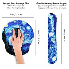 [From USA]Van Gogh Starry Night Ergonomic Design Mouse Pad with Wrist Rest Han