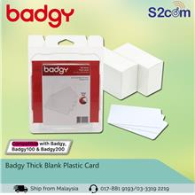 Badgy Thick Blank Plastic Card (CBGC0030W)