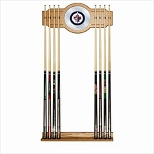 [Free shipping]Trademark Gameroom NHL Winnipeg Jets Cue Rack with Mirror