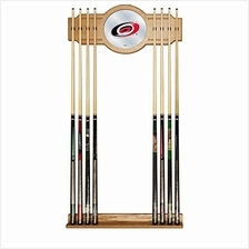 [Free shipping]Trademark Gameroom NHL Carolina Hurricanes Cue Rack with Mirror