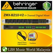 Behringer ZMX-8210-V2 Professional 8 Channel 3 Bus Mic Line Zone Mixer with Re