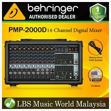 Behringer PMP-2000D 24 Bit Multi FX Processor 2 x 165W 250W Powered Power Box