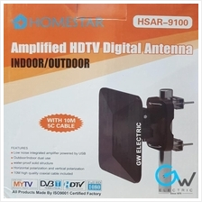 HOMESTAR HSAR-9100 Amplified HDTV Digital Antenna For Indoor / Outdoor