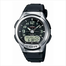 Casio World Time 10 Years Battery Rubber Watch AQ-180W-1BVDF