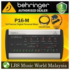 Behringer Powerplay P16-M 16 Channel Digital Stereo Personal Mixer Ultranet Co