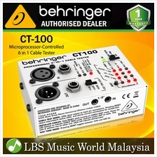 Behringer CT-100 Microprocessor Controlled 6 in 1 Cable Tester XLR TRS RCA and