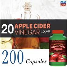 Apple Cider Vinegar Diet Formula 600mg, 200 capsules (USA)