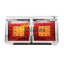 50LED Hino Trailer Truck Lorry Freight Car Rear LED Tail Light Lamp (1PC)