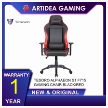 ^ TESORO ALPHAEON S1 F715 GAMING CHAIR BLACK/RED - BLACK/RED