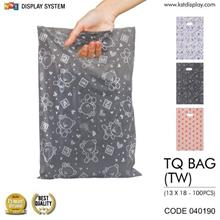 Thank You Packaging Bag Plastic Gift Wrapping Shopping Bags 100pcs