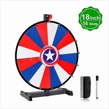 [Free shipping]TSIGN 18 Inch Spinning Prize Wheel Spin Heavy Duty 16 Slots Tab