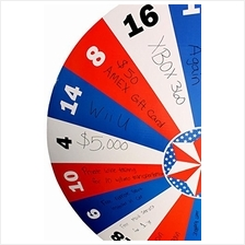 [Free shipping]Displays2go Free-Standing Cardboard Prize Wheel with 18 Numbere