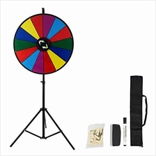 [Free shipping]Happybuy 18 Inch Tabletop Color Prize Wheel with Folding Tripod