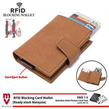 MV RFID Blocking Wallet Leather Credit Card Holder for Men and Women