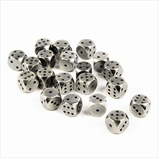 [Free shipping]Saberforge Rounded Heavy Metal Six Sided 12mm D6 Dice (20 Pack)