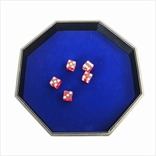 [Free shipping]YH Poker 11.5 Inch Octagon Dice Tray - Heavy Duty Leatherette w