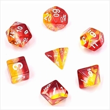 [Free shipping]HDdais Polyhedral Transparent DND Dice Sets D &D Dice for D