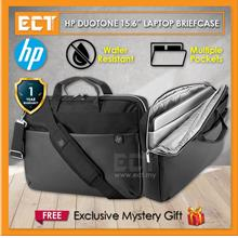 "HP Duotone 15.6 "" Laptop Briefcase - Black and Silver"