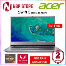 "Acer Swift 3 SF314-41-R5UP 14 "" IPS FHD Laptop Sparkly Silver"