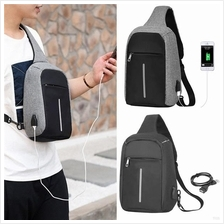 Anti Theft USB Charging Sling Bag Crossbody Bag Travel Beg Bags