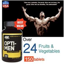 Opti-Men 150 Tablets (Whey, Casein, Amino, Protein) Opti men, Optimen