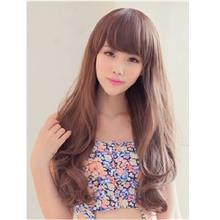 long curve wig light brown 007/ ready stock/ rambut palsu