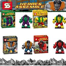 SY255 THE HULK 4 IN 1 SET LEGOcompatible MINIFIGURE toy