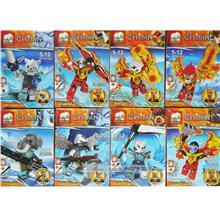 JX1006 CHIMA 8 in 1 set lego compatible minifigure toy
